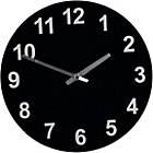more details on ColourMatch Jet Black Round Glass Wall Clock.