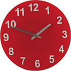 more details on ColourMatch Poppy Red Round Glass Wall Clock.
