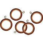 more details on 20 Wooden 28mm Pole Curtain Rings - Beech.