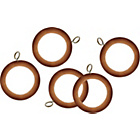 more details on HOME 20 Wooden 35mm Curtain Rings - Beech.