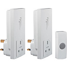 more details on White 30m Plug in Wireless Twin Pack Doorbell Kit.