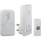 more details on White 30m Portable and Plug Through Wireless Doorbell Kit.