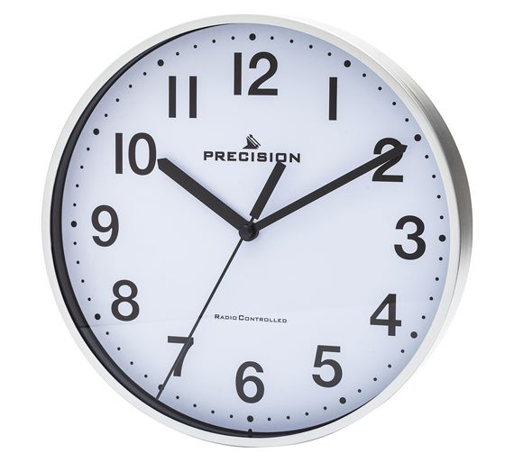 Buy Home Silver Precision Radio Controlled Wall Clock At