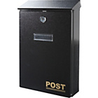 more details on HOME Oslo Wall Mountable Black Lockable Letter Box.