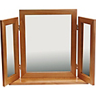 more details on Triple Oak Effect Dressing Table Mirror.