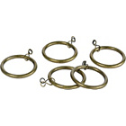 more details on 20 Metal Curtain Rings - Antique Brass.