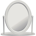 more details on Solid Pine White Oval Free Standing Dressing Table Mirror.