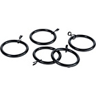more details on 20 Metal Curtain Rings - Black.