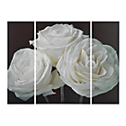 more details on Collection Paper Roses Triptych Canvas - Set of 3.