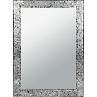 more details on Inspire Crackle Wall Mirror - Silver.