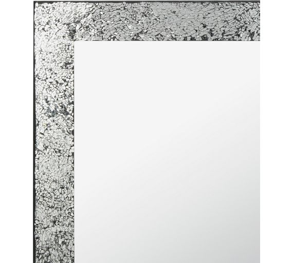 Buy Collection India Crackle Wall Mirror Silver At Argos