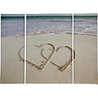 more details on Heart of House Two Hearts Triptych Canvas - Set of 3.