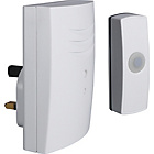 more details on White 60m Wireless Plug in Glow in Dark Push Doorbell.