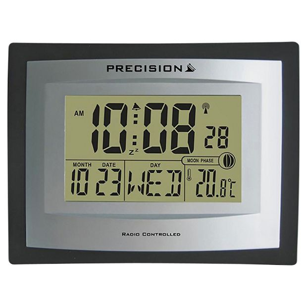 buy precision lcd radio controlled clock at your online shop for clocks home. Black Bedroom Furniture Sets. Home Design Ideas