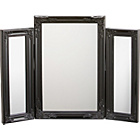 more details on Black Swept Triple Dressing Table Mirror.