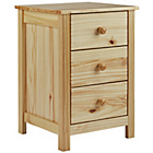 more details on HOME New Scandinavia 3 Drawer Bedside Chest - Pine.