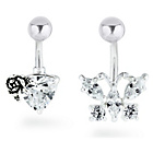 more details on My Body Candy Stainless Steel Flower Belly Bar - Set Of 2.