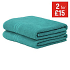 more details on ColourMatch Pair of Bath Sheets - Teal.