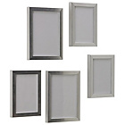 more details on HOME Set of 5 Photo Frames - Silver.