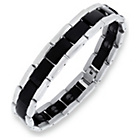 more details on Domain Stainless Steel Two Tone Magnetic Black Bracelet.