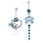more details on My Body Candy Stainless Steel Gecko Belly Bar Set of 2.