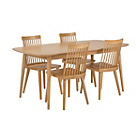 more details on Home of Style Hartwell Dining Table with 4 Wooden Chairs.