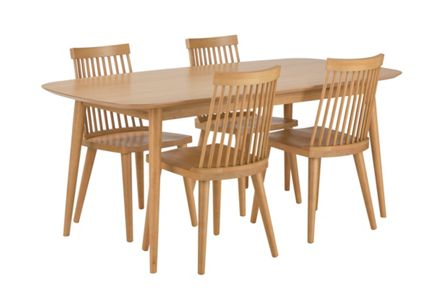 Home of Style Hartwell Dining Table with 4 Chairs