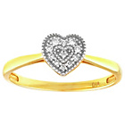 more details on 9ct Gold Diamond Accent Heart Ring.