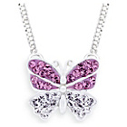 more details on Miss Glitter Silver Kids Cubic Zirconia Butterfly Pendant.