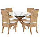 more details on Home of Style Abbotsley Dining Table with 4 Rattan Chairs.