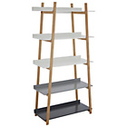 more details on Premier Housewares Nostra 5 Tier Bamboo Media Unit - Grey.