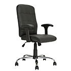 HOME Jarvis High Back Chair with Arms - Black