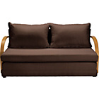 more details on Fizz Foam Fold Out Sofa Bed - Chocolate.