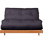 more details on Tosa Pine Futon Sofa Bed with Mattress - Charcoal.
