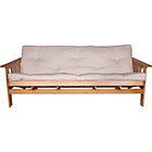 more details on Cuba Futon Sofa Bed with Mattress - Natural.
