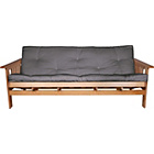 more details on Cuba Futon Sofa Bed with Mattress - Charcoal.