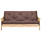 more details on Cuba Futon Sofa Bed with Mattress - Chocolate.