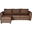 more details on Siena Fabric Dual Facing Corner Sofa Bed - Chocolate.
