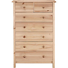 more details on Scandinavia 5+2 Drawer Chest - Pine.