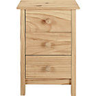 more details on Scandinavia 3 Drawer Bedside Chest - Pine.