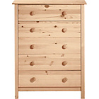more details on Scandinavia 5 Drawer Chest - Pine.