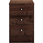 more details on Malibu 3 Drawer Bedside Chest - Wenge Effect.
