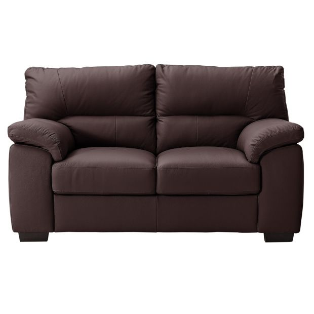 Buy collection piacenza 2 seater leather sofa chocolate at your online shop for Buy home furniture online uk