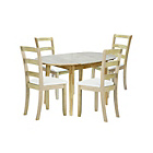 more details on Home of Style Thornbury Dining Table with 4 Slatted Chairs.