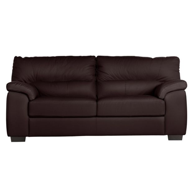 Buy Collection Piacenza 3 Seater Leather Sofa Chocolate