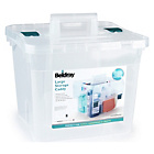 more details on Beldray Large Plastic Storage Caddy with Lid - Clear.
