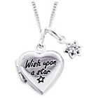 more details on Little Star Kids' Silver Wish Upon A Star Cross Locket.