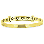 more details on Little Star 9ct Gold Plated Silver Teddy Bangle - 0-18 Month