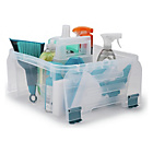 more details on Beldray Small Plastic Storage Caddy with Lid - Clear.
