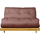 more details on Tosa Pine Futon Sofa Bed with Mattress - Chocolate.